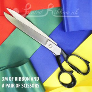 Opening ribbon with scissors