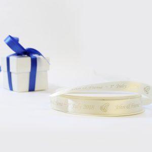 wedding ribbon and box with ribbon